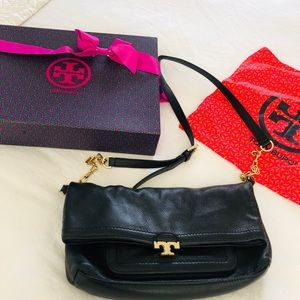 Authentic Tory Burch leather bag black